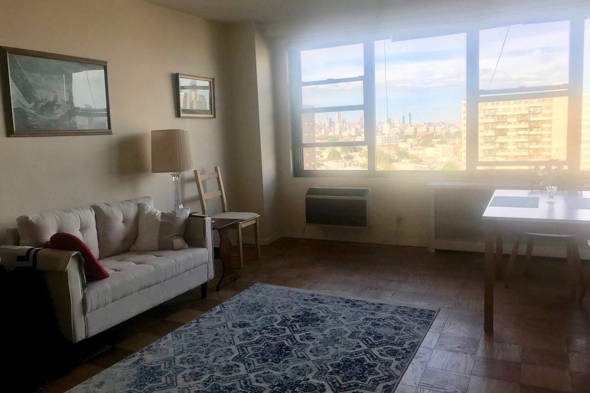 Panoramic NYC views from this magnificent one bedroom condominium